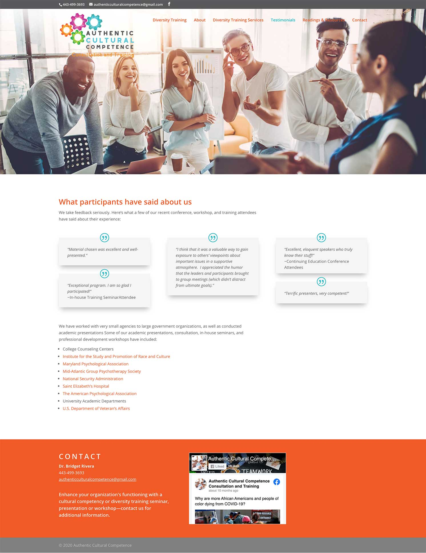 Responsive Website Design for Authentic Cultural Competence Interior