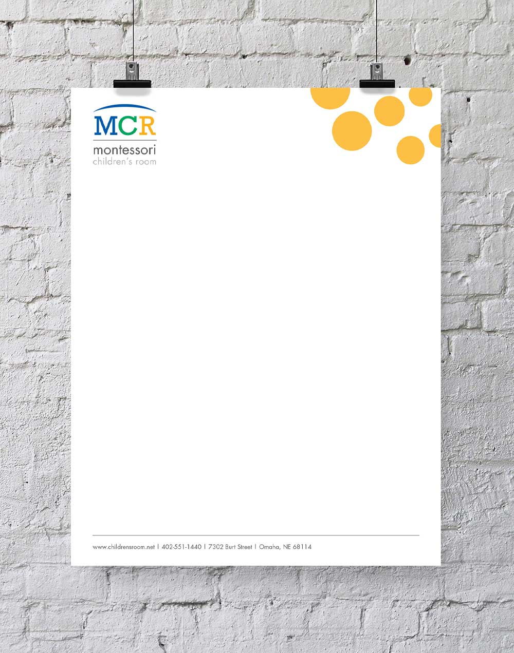 Montessori Children's Room letterhead