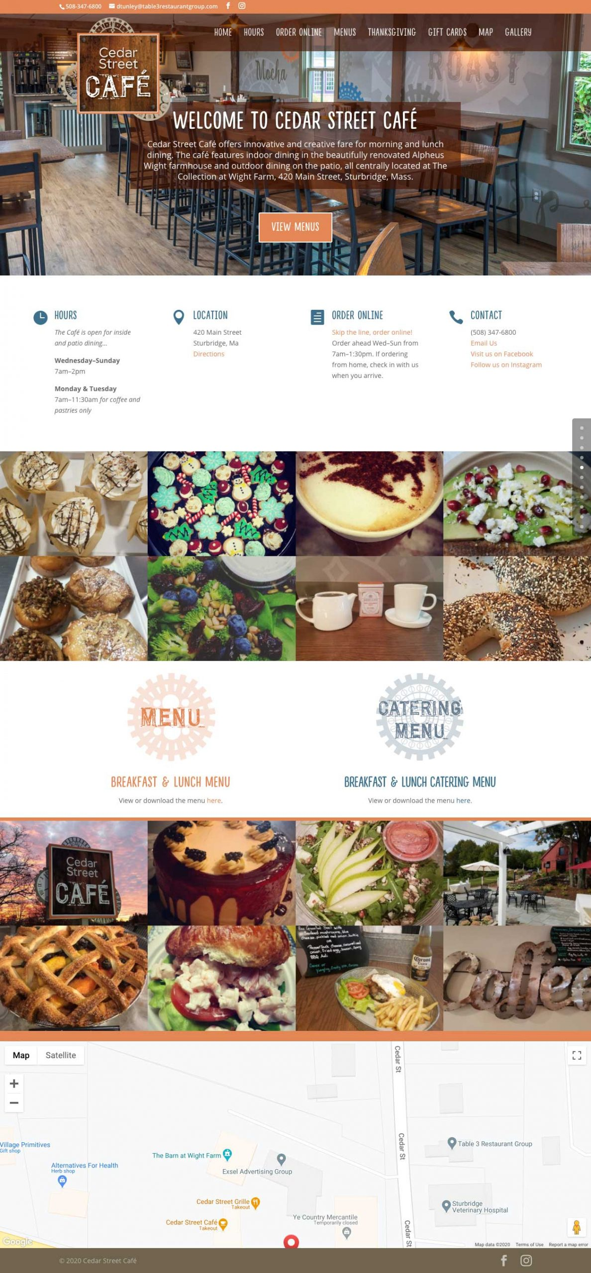 One page scrolling web design