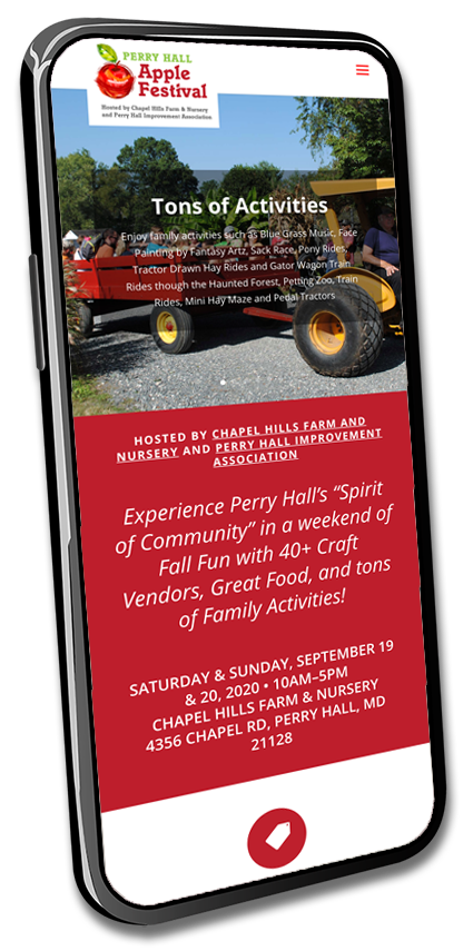 Mobile web design for Perry Hal Apple Festival