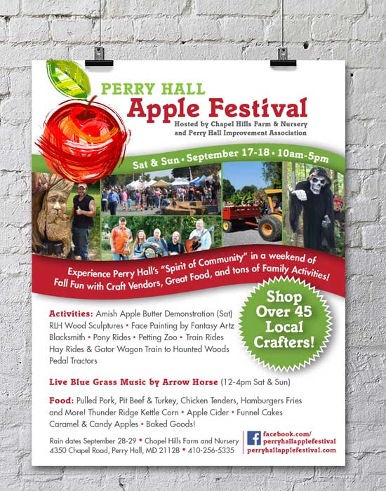 Flyer design for Perry Hall Apple Festival